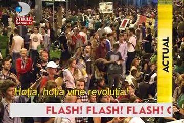 Protest de amploare! 15.000 de bucuresteni au iesit duminica noapte din case, hotarati sa puna capat proiectului Rosia Montana