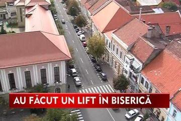 Biserica cu lift din Bistrita, atractia turistilor!