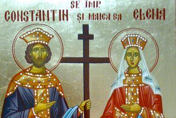 Biserica ortodoxa sarbatoreste miercuri Sfintii Imparati Constantin si Elena