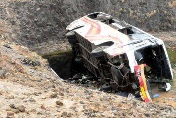 ACCIDENT grav in Bulgaria: Un roman a murit, iar cinci sunt raniti grav dupa ce un autocar s-a rasturnat. Sase raniti si ceilalti pasageri, adusi in tara