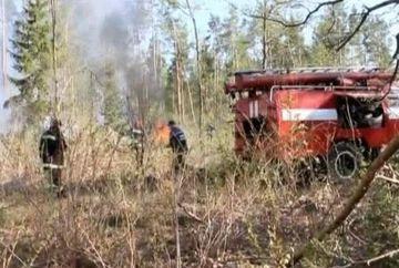 Autoritatile romane, in stare de alerta dupa ce un incendiu violent a cuprins sute de hectare de padure in apropierea centralei de la Cernobil!