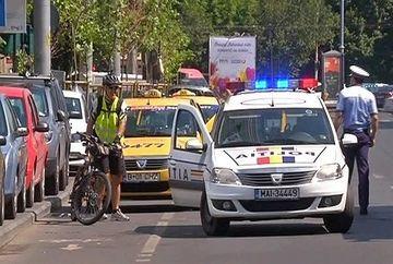 Scandal monstru surprins de echipele Kanal D in plina strada intre un biciclist si un taximetrist!