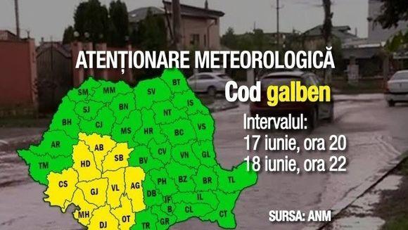 Meteorologii au emisi o noua avertizare de cod galben de ploi! Vezi in ce judete