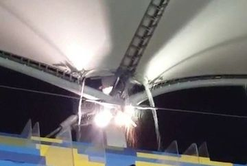 A costat o avere si a cedat dupa doar 4 ani! Imagini incredibile cu Arena Nationala au fost filmate de cativa suporteri veniti la meci