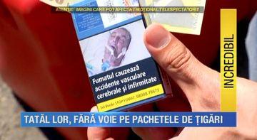 "SCANDAL URIAS: E real si se intampla in Romania! Au inlemnit cand au mers la magazin si au gasit o poza cu tatal lor pe pachetele de tigari! ""Il vedem pe tata peste tot!"""