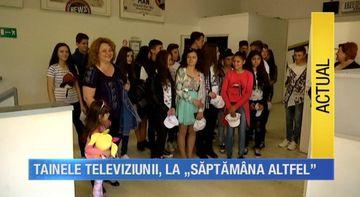 Elevii unei scoli din Straulesti, in vizita la Kanal D la inceputul Saptamanii Altfel