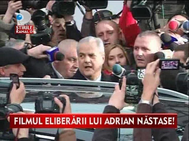 FILMUL ELIBERARII lui Adrian Nastase! Fostul premier nu a mai fost vazut de cand a iesit pe portile penitenciarului VIDEO