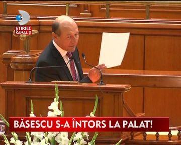 Traian Basescu s-a reinstalat la Palatul Cotroceni VIDEO