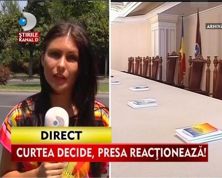 Curtea Constitutionala a Romaniei va discuta interimatul in exercitarea functiei de presedinte