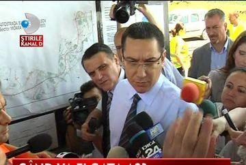 Victor Ponta, in vizita de lucru pe autostrada Bucuresti-Ploiesti VIDEO
