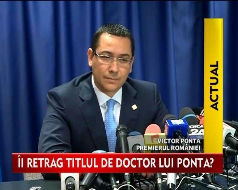 STIREA ZILEI: Adevarul despre PLAGIATUL lui Victor Ponta VIDEO
