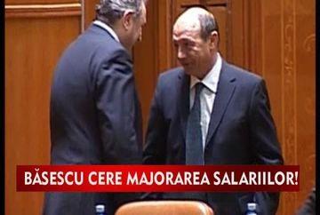 Basescu cere majorarea salariilor! VIDEO