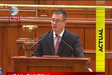 Noul Guvern a trecut cu bine de votul de investire VIDEO