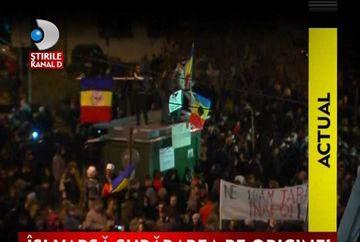 Ludovic Orban, hulit de protestatari VIDEO
