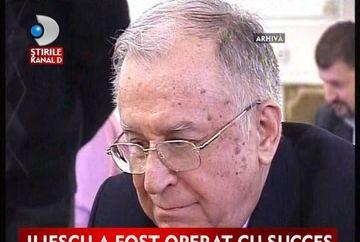 Ion Iliescu, operat cu succes VIDEO