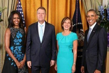 Presedintele Klaus Iohannis, alaturi de Barack Obama la un dineu!