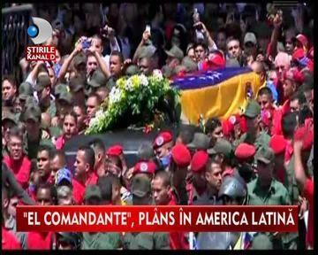DOLIU NATIONAL! O tara intreaga il plange pe Hugo Chavez VIDEO