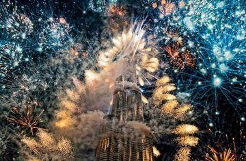 Anul Nou, INTAMPINAT CU FAST in Dubai VIDEO