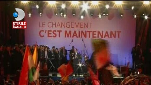 Francois Hollande, discurs entuziast dupa anuntarea rezultatelor VIDEO