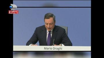 Moment tensionat la conferinta de presa a presedintelui Bancii Centrale Europene, Mario Draghi. Ce a facut o femeie in semn de protest