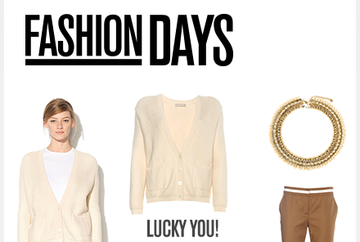 """LUCKY YOU"" - FASHION DAYS ofera EXTRA discount de 25% la toate produsele"