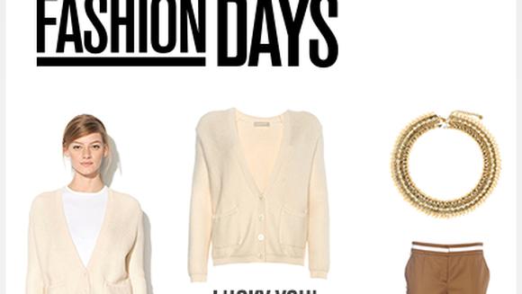 """LUCKY YOU"" - FASHION DAYS ofera EXTRA discount de 25% la toate produsele"