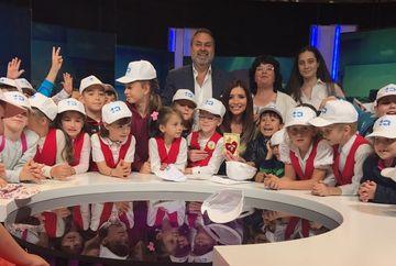 Copiii au luat cu asalt sediul Kanal D! Iulia Albu si Ilinca Obadescu, ghizi pentru copii prin studiourile televiziunii
