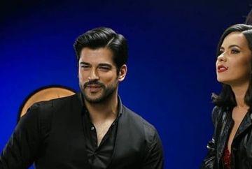 Burak Ozcivit si Inna, primele imagini din cadrul spotului publicitar, care a starnit mari controverse in presa turca! A avut sau nu motive de gelozie sotia actorului, Fahriye Evcen?
