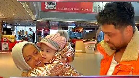 Exatlon via Otopeni! Anda Adam, revedere emotionanta cu micuta Evelin si cu sotul ei! Iata cum au reactionat cei trei cand s-au reintalnit la aeroport!