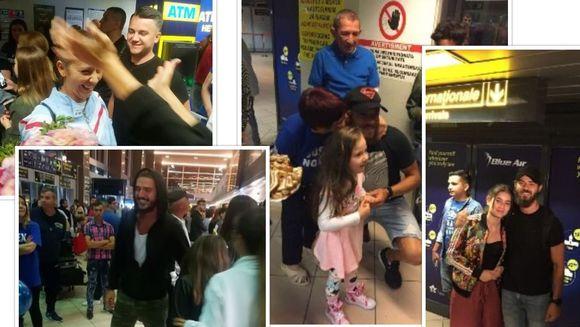 """Ultimii ramasi in competitia """"Exatlon"""" au revenit acasa; Vladimir, Ionut, Roxana, Stefan si Alex au fost primiti ca niste adevarate staruri de fani, familie si prieteni"""