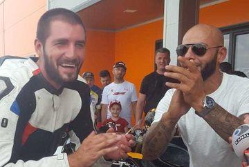 "Catalin Cazacu, victorie uriasa la revenirea in circuitul de motociclism, dupa intoarcerea de la Exatlon! A baut sampanie cu Draghia, Kirita si compania si-au strigat in cor: ""Vulturii, vulturii"""