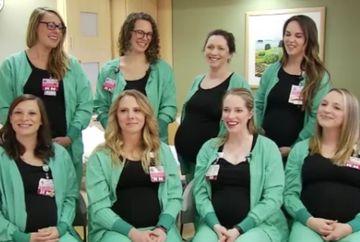 Nouă asistente dintr-o secție au rămas gravide în același timp. Explicația șefului