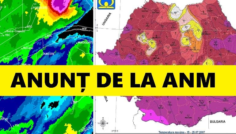 Vremea! ANM a făcut anunțul! Meteorologii vin cu veşti proaste