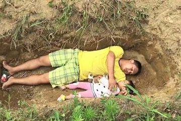 Un tata i-a pregatit fetitei lui mormantul si o duce acolo zilnic. Micuta nu mai are nicio sansa