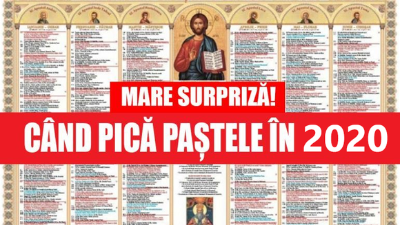 Paste 2020: cand pica Pastele in 2020, data a fost stabilita