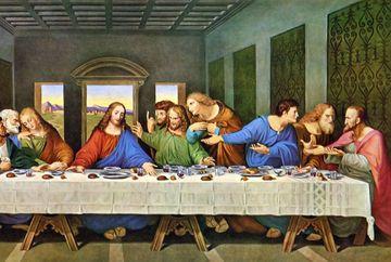 Ce mâncau de fapt Iisus şi apostolii la Cina cea de Taină? Indiciile ascunse în Scriptură şi pictura lui Da Vinci