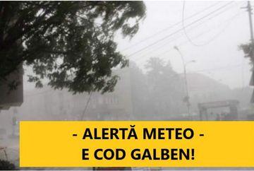 Avertizare meteo: Cod Galben de fenomene extreme. Cand intra in vigoare