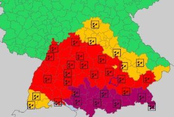 Cod violet de ploi - 140 litri/metru pătrat! Fenomene extreme în Europa