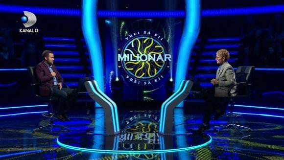 "Nu ratati o noua editie ""Vrei sa fi milionar?"", prezentata de Teo Trandafir, LUNI, de la ora 22:45, la Kanal D!"
