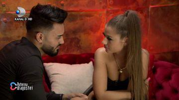 """Jador și Simona de la """"Puterea dragostei"""", întâlnire intimă în camera roșie. """"Tremuri?"""" Ce și-au mărturisit"""