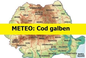 Alertă meteo: Cod galben de ploi torențiale
