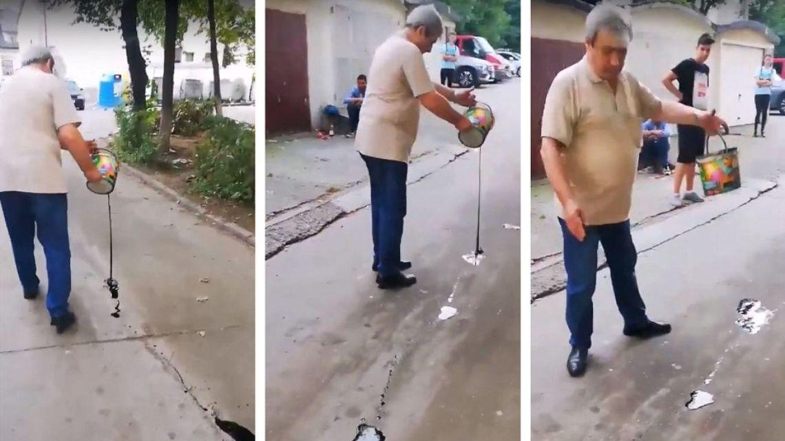 Imagini socante! Ce a facut un pensionar deranjat de copiii care jucau fotbal in fata blocului: uite cum a decis sa se razbune