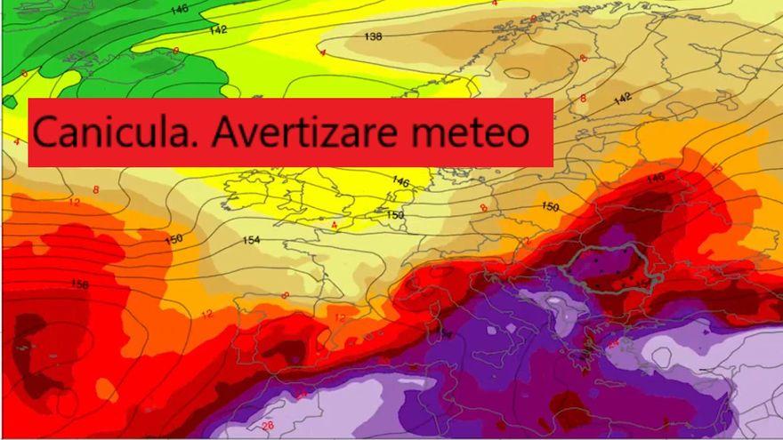 Cod GALBEN de canicula. Prognoza meteo marti, 13 august