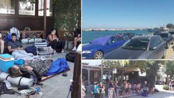 News Alert Sute de romani blocati in Grecia. Incendiile se apropie amenintator de porturi