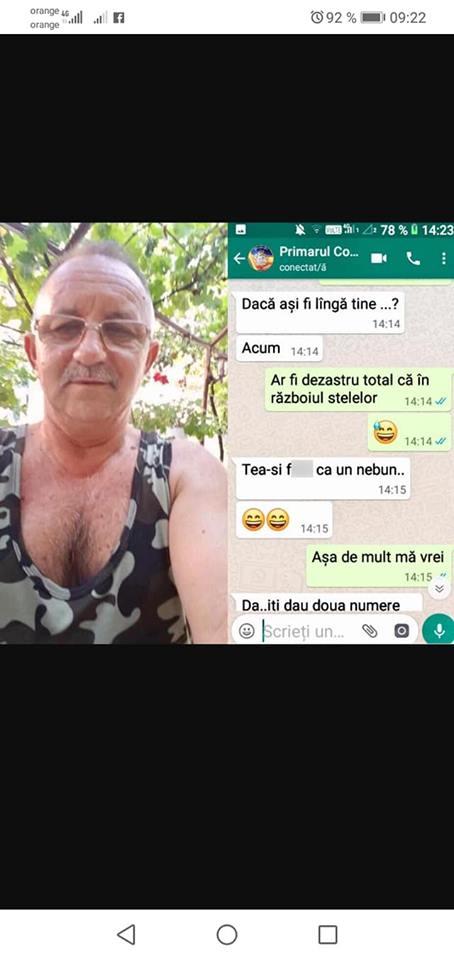 """Primar din Dolj acuzat ca hartuieste femei pe internet. Edilul: """"E un cont fals, vor bani de la mine"""""""