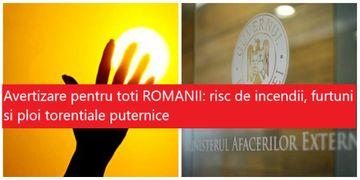 Avertizare pentru toți românii care merg în Grecia! Risc ridicat de incendii, ploi torenţiale şi furtuni puternice