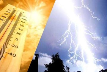 Meteo: Nu scapam de canicula nici in zilele urmatoare, insa vin si ploi cu descarcari electrice in anumite zone ale tarii!