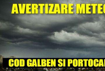 Avertisment ANM: Cod portocaliu de vreme extremă în România. Care sunt zonele afectate