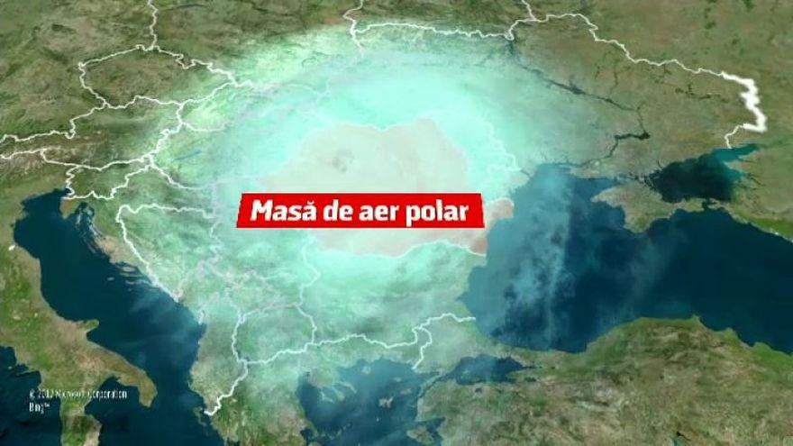 Atentionare de la ANM: un val de aer polar intra in Romania! Cat de tare se raceste vremea