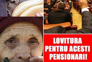 LOVITURA pentru acesti pensionari! Pensiile lor vor fi IMPOZITATE! S-a dat LEGE!